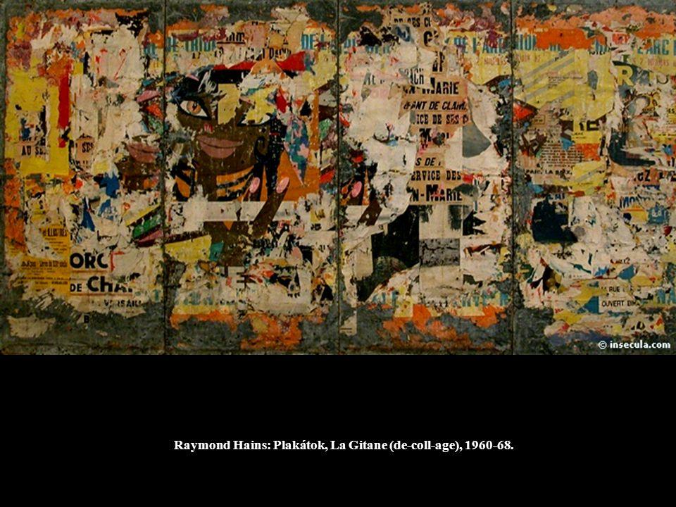 Raymond Hains: Plakátok, La Gitane (de-coll-age), 1960-68.
