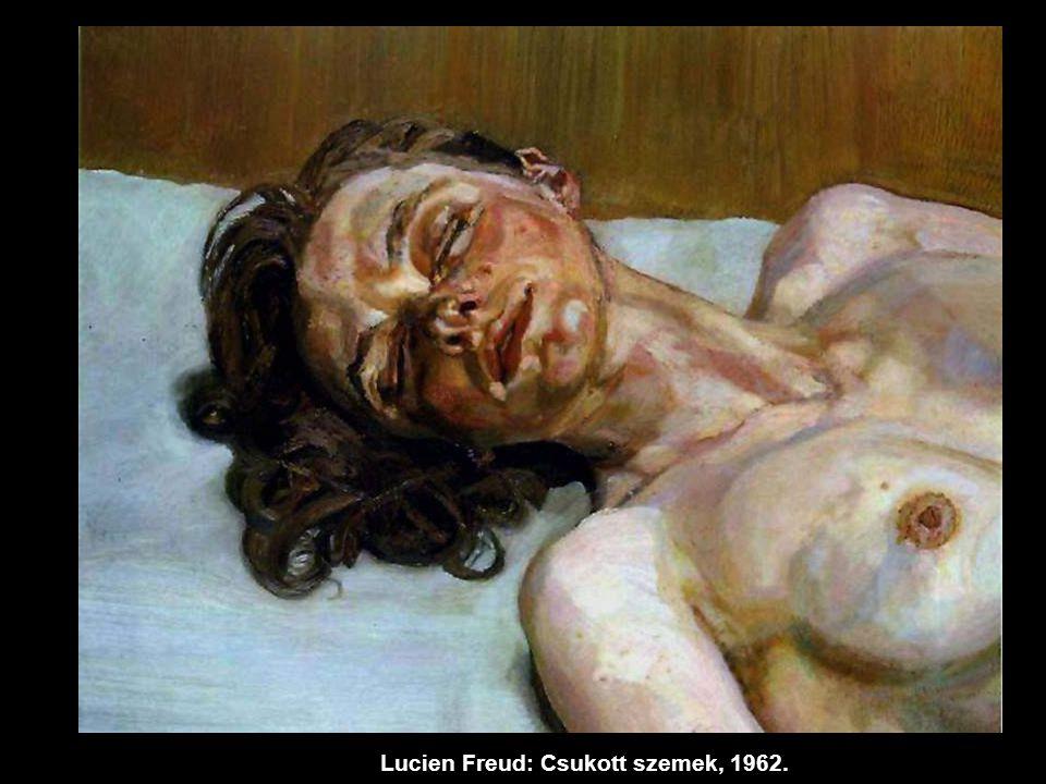 Lucien Freud: Csukott szemek, 1962.