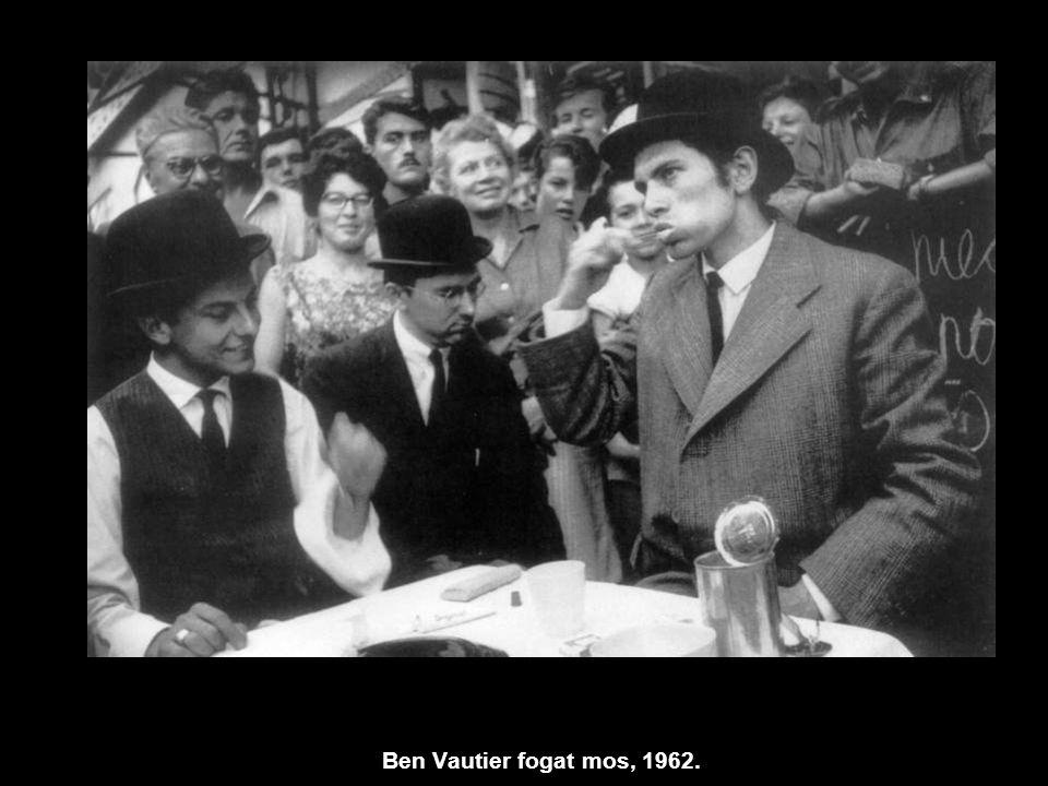 Ben Vautier fogat mos, 1962.