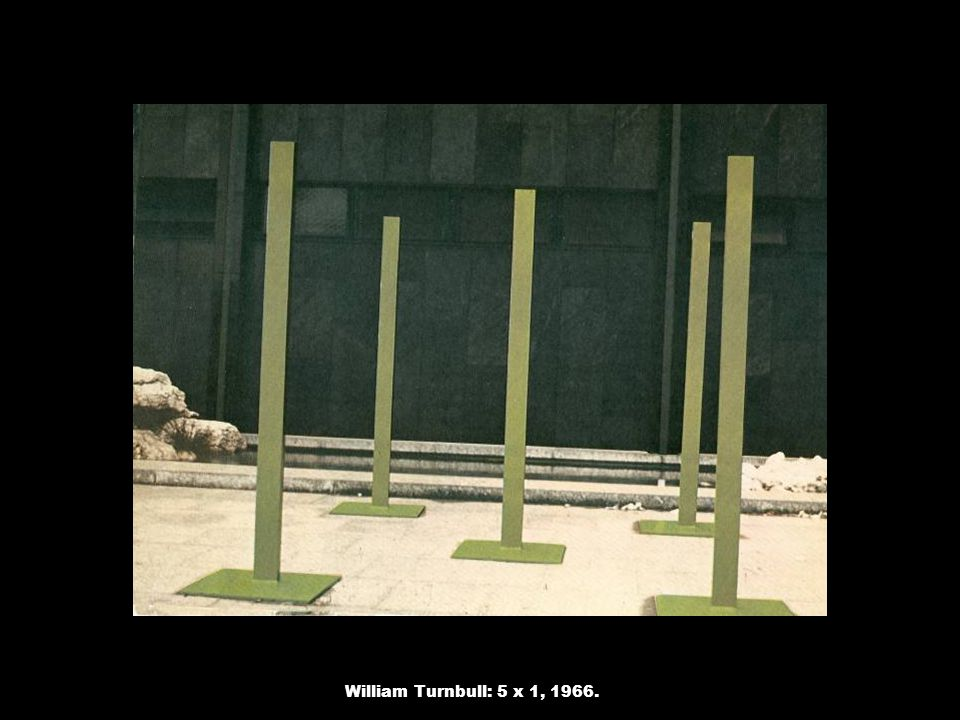William Turnbull: 5 x 1, 1966.