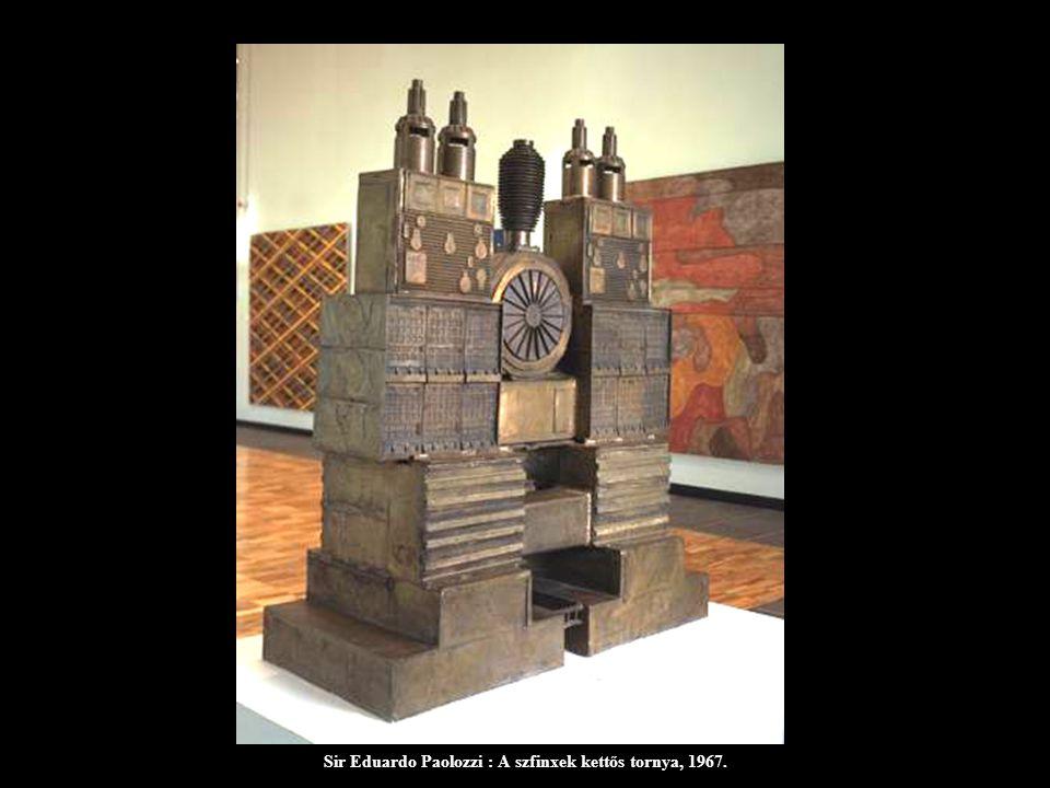 Sir Eduardo Paolozzi : A szfinxek kettős tornya, 1967.