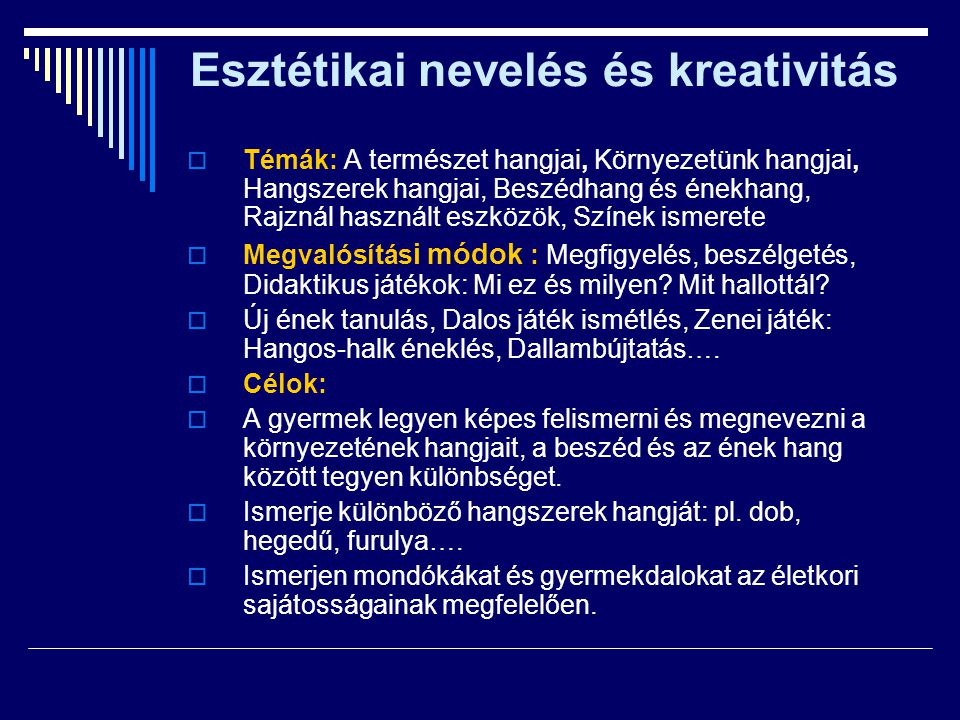 Esztétikai nevelés és kreativitás