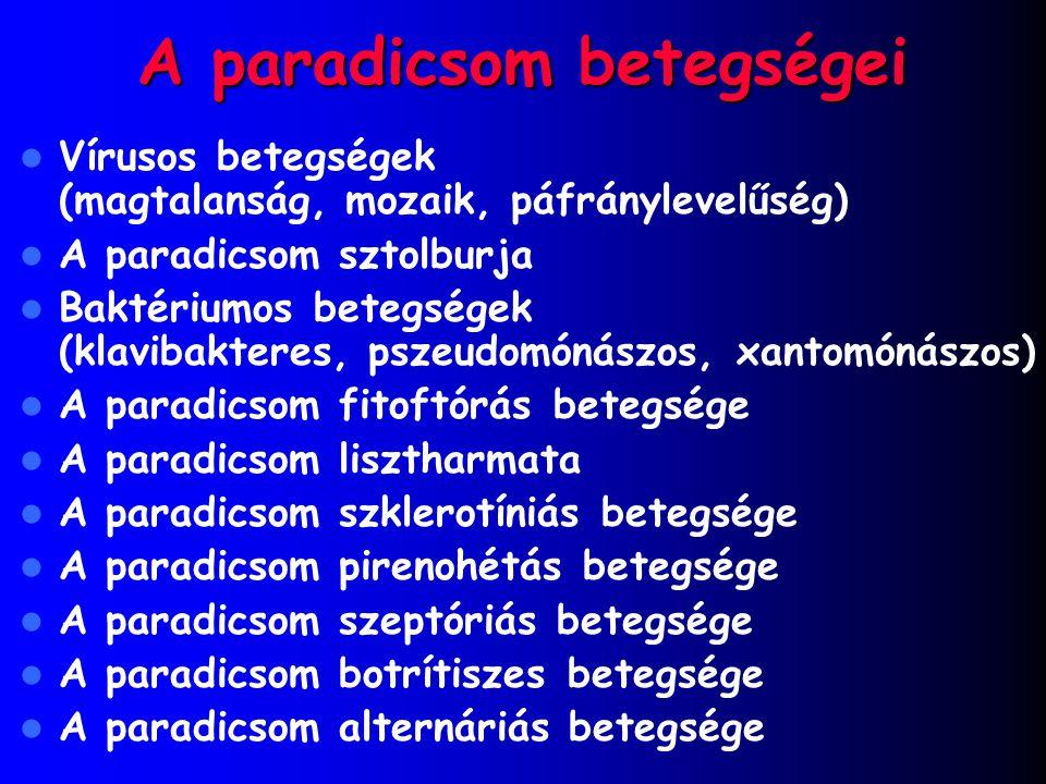 A paradicsom betegségei