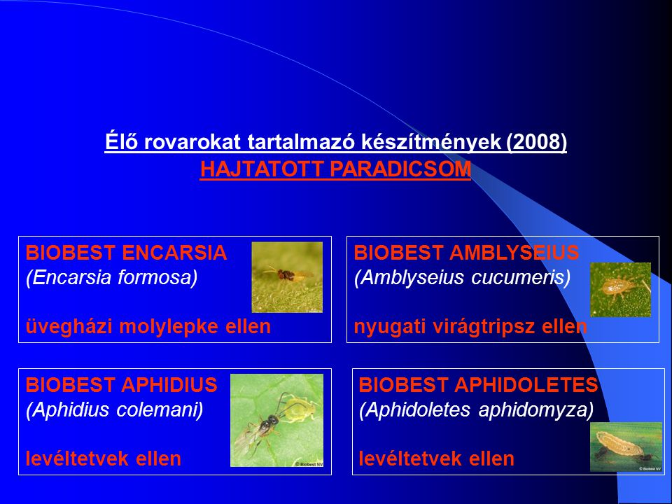 Élő rovarokat tartalmazó készítmények (2008)