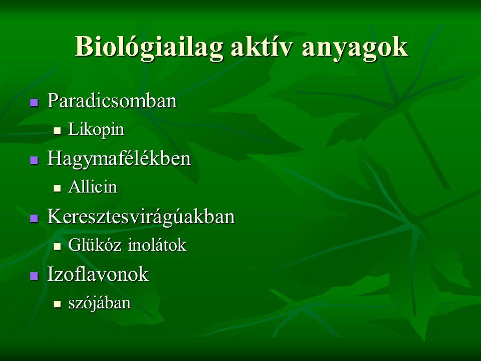 Biológiailag aktív anyagok