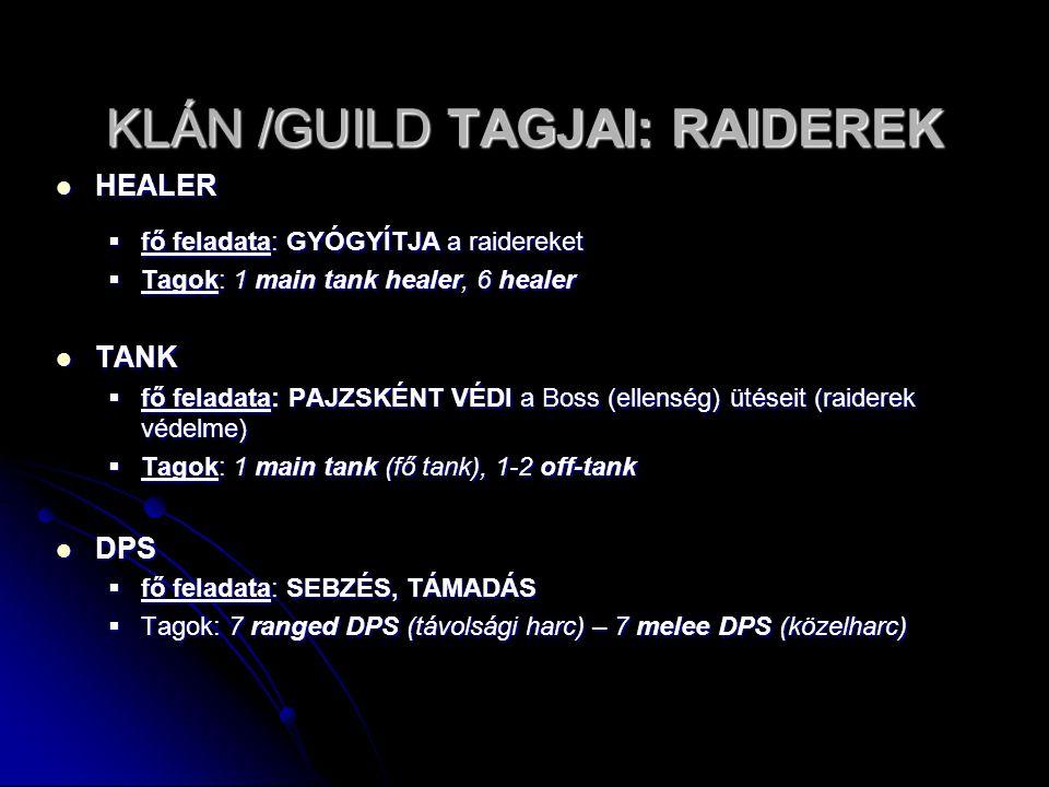 KLÁN /GUILD TAGJAI: RAIDEREK