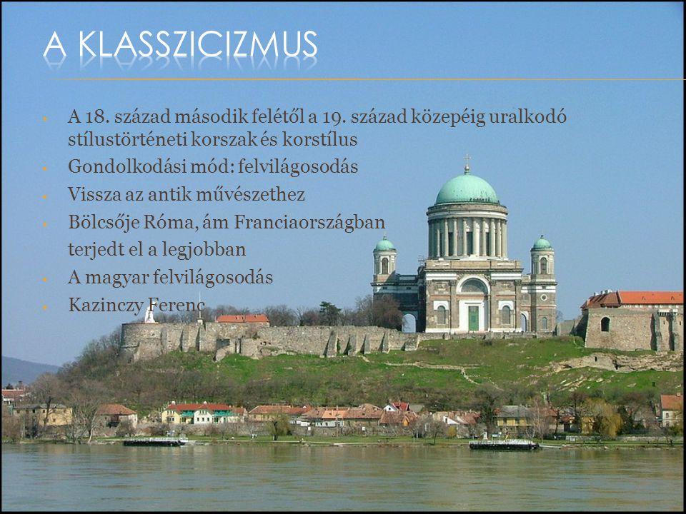 A klasszicizmus A 18. század második felétől a 19. század közepéig uralkodó stílustörténeti korszak és korstílus.
