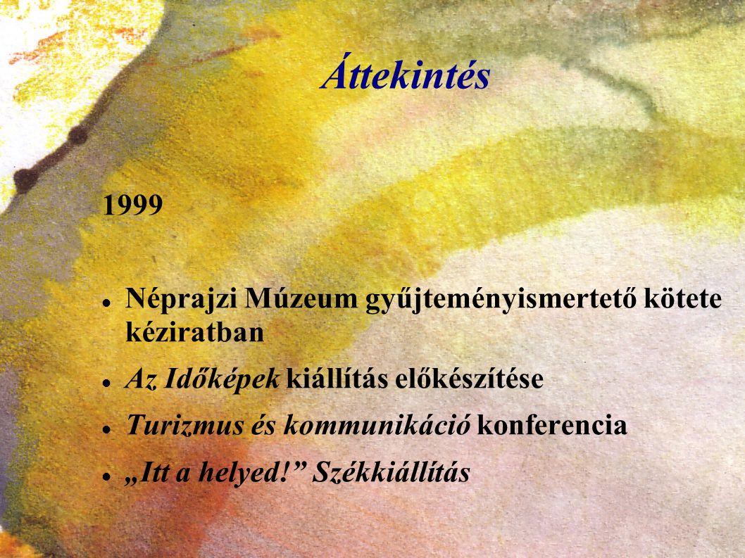 Áttekintés 1999 Néprajzi Múzeum gyűjteményismertető kötete kéziratban