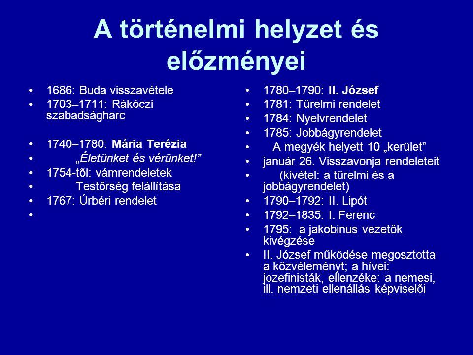 A történelmi helyzet és előzményei