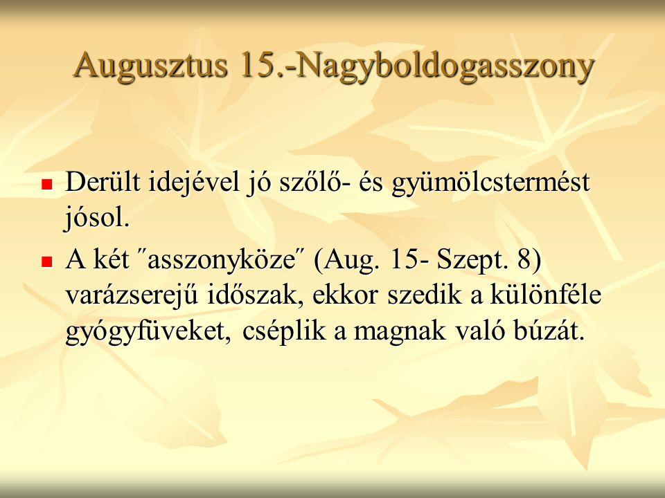 Augusztus 15.-Nagyboldogasszony
