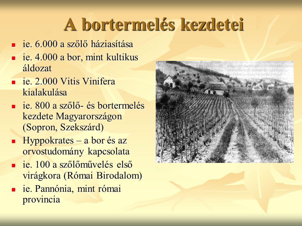 A bortermelés kezdetei