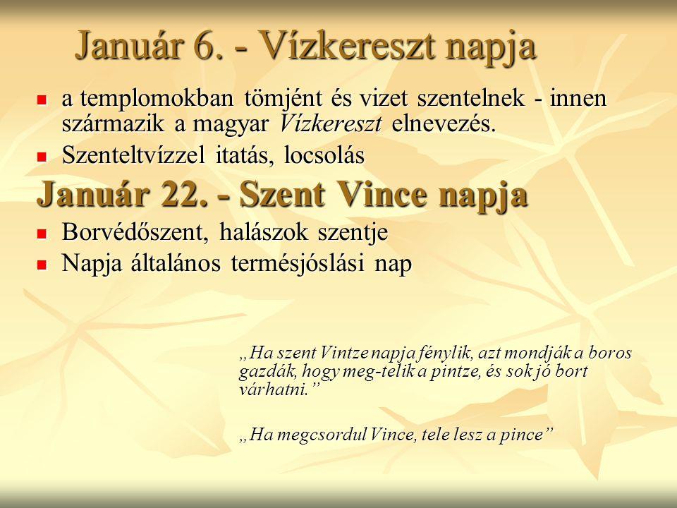 Január 6. - Vízkereszt napja