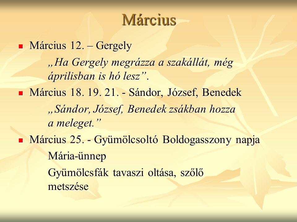 Március Március 12. – Gergely
