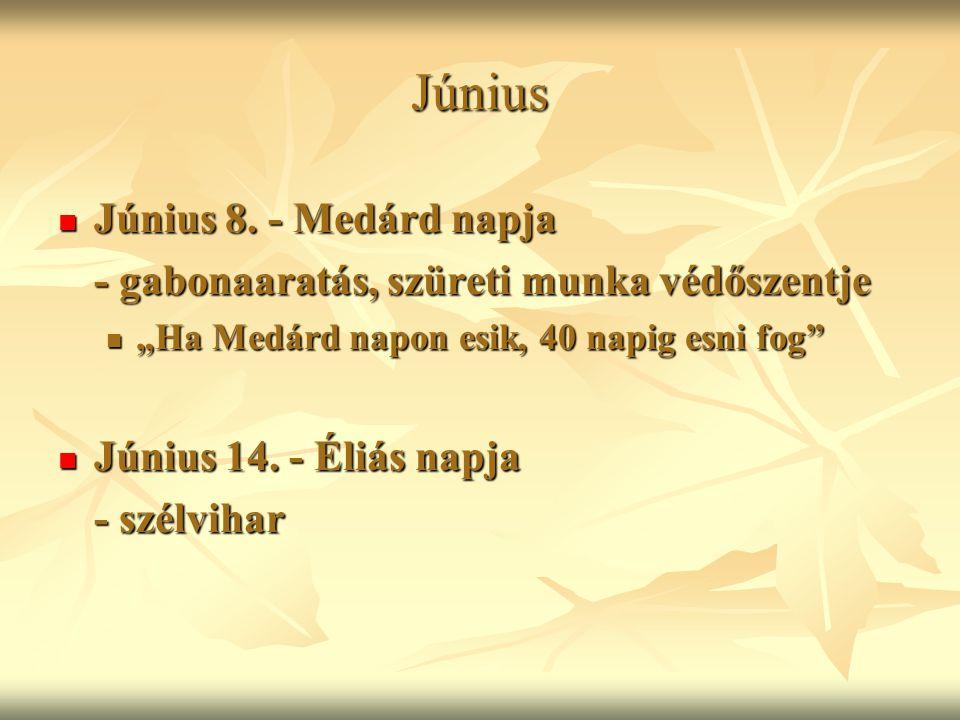 Június Június 8. - Medárd napja