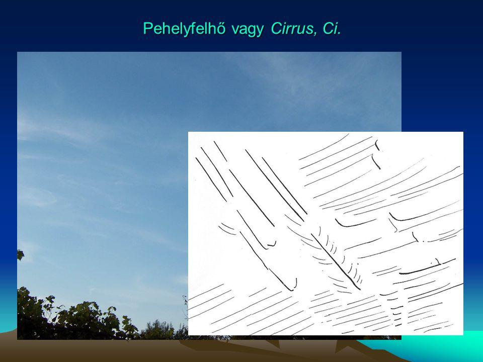 Pehelyfelhő vagy Cirrus, Ci.