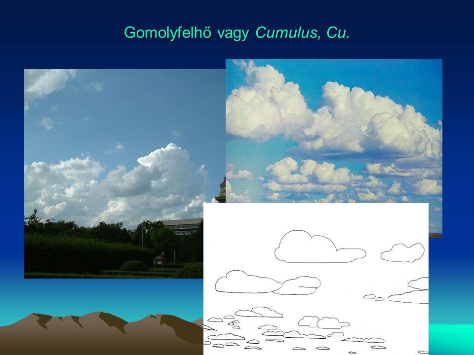 Gomolyfelhő vagy Cumulus, Cu.