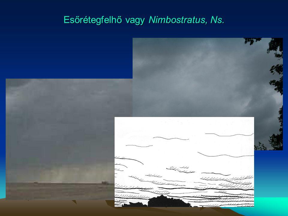 Esőrétegfelhő vagy Nimbostratus, Ns.