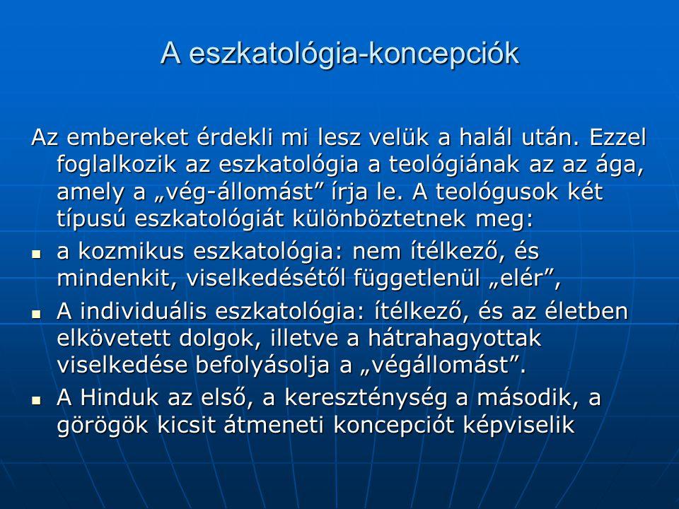 A eszkatológia-koncepciók