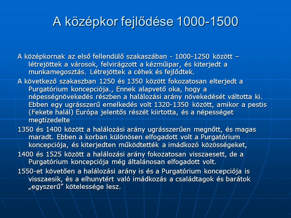 A középkor fejlődése 1000-1500