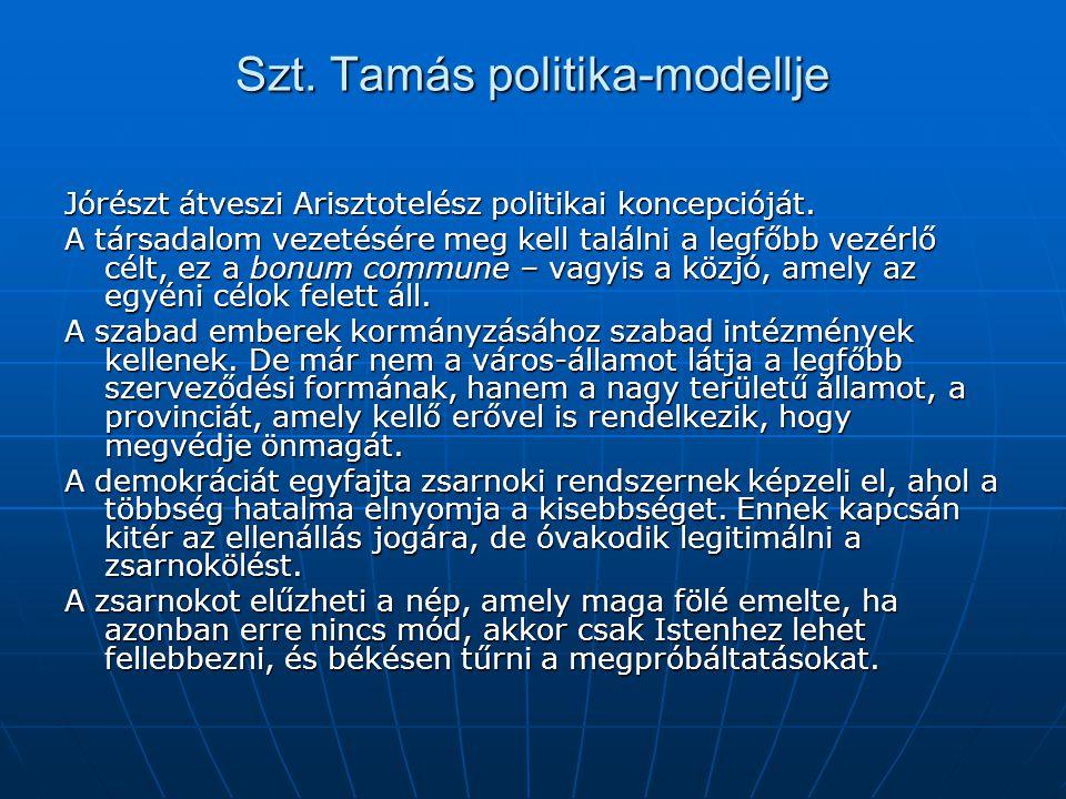 Szt. Tamás politika-modellje