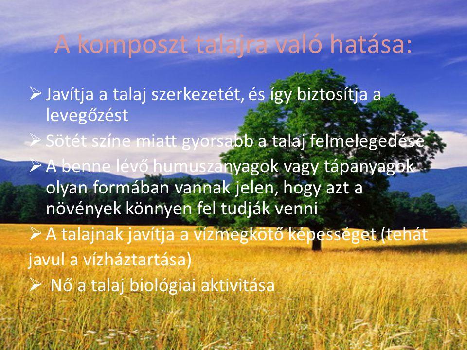 A komposzt talajra való hatása: