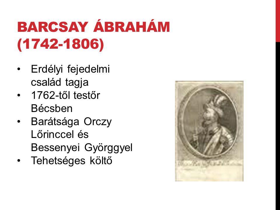 Barcsay Ábrahám (1742-1806) Erdélyi fejedelmi család tagja