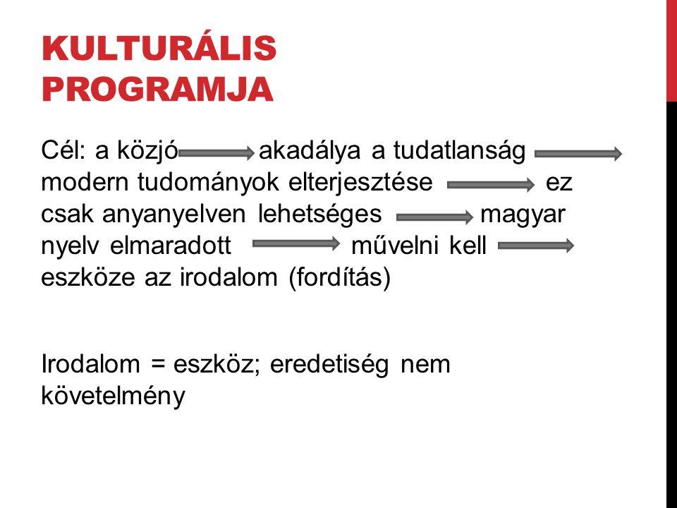 Kulturális programja