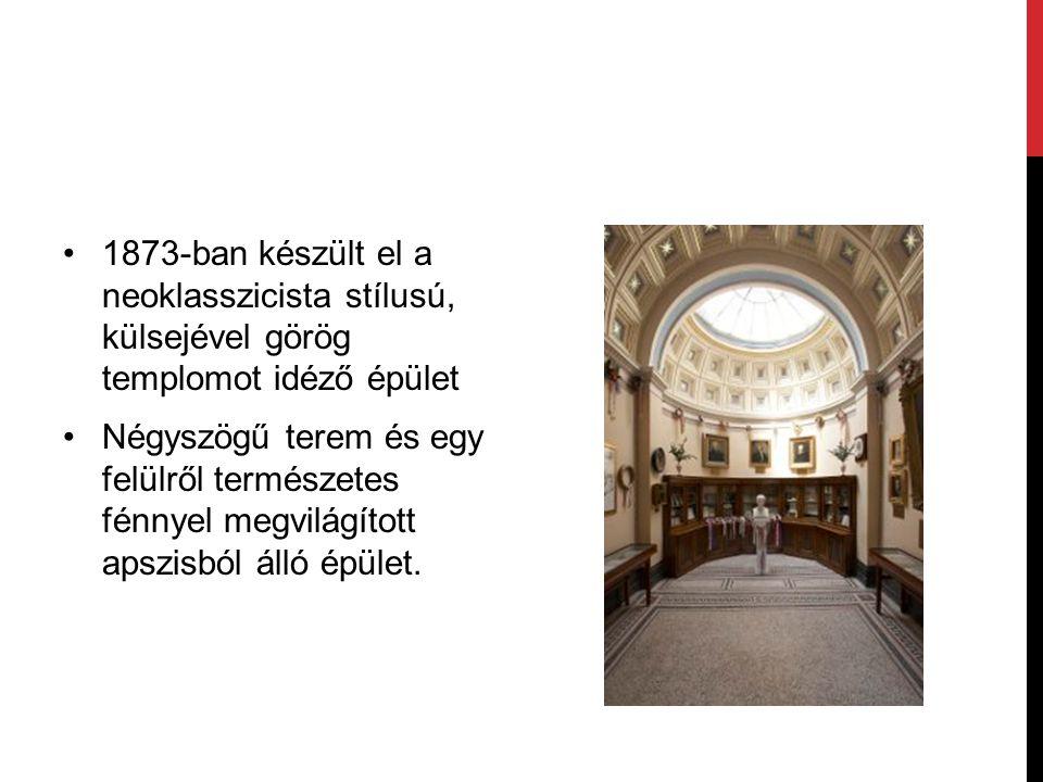 1873-ban készült el a neoklasszicista stílusú, külsejével görög templomot idéző épület