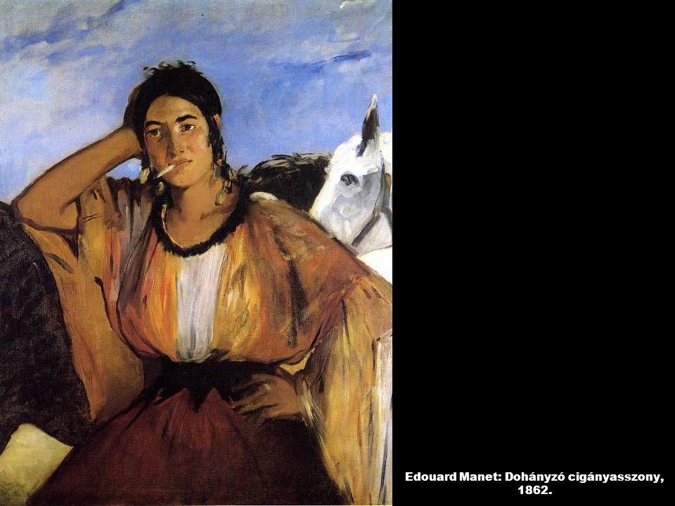 Edouard Manet: Dohányzó cigányasszony, 1862.