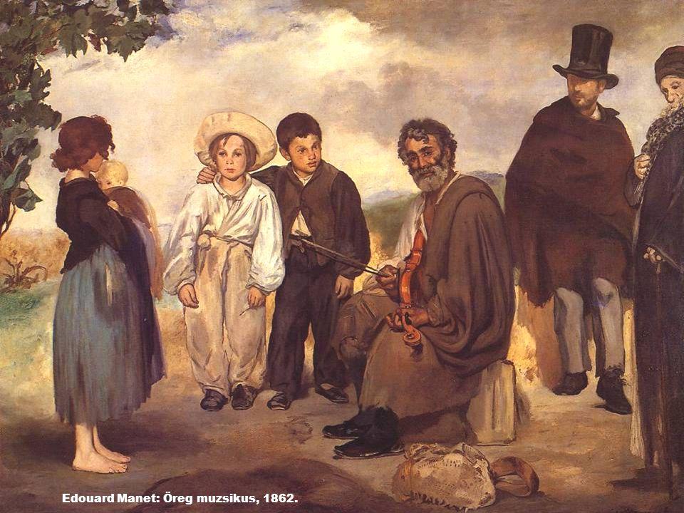 Edouard Manet: Öreg muzsikus, 1862.