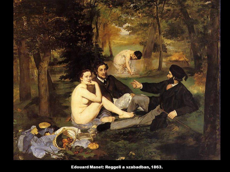 Edouard Manet: Reggeli a szabadban, 1863.