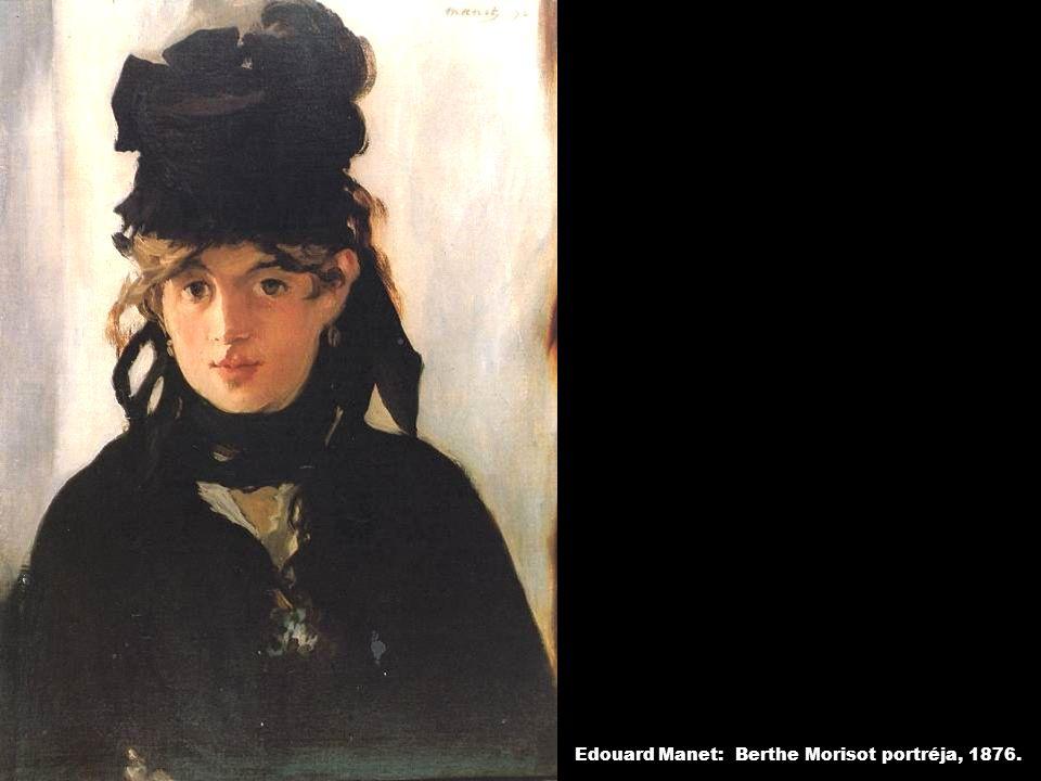 Edouard Manet: Berthe Morisot portréja, 1876.
