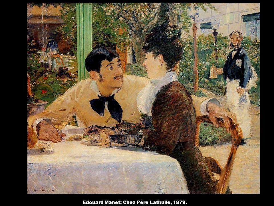 Edouard Manet: Chez Pére Lathuile, 1879.