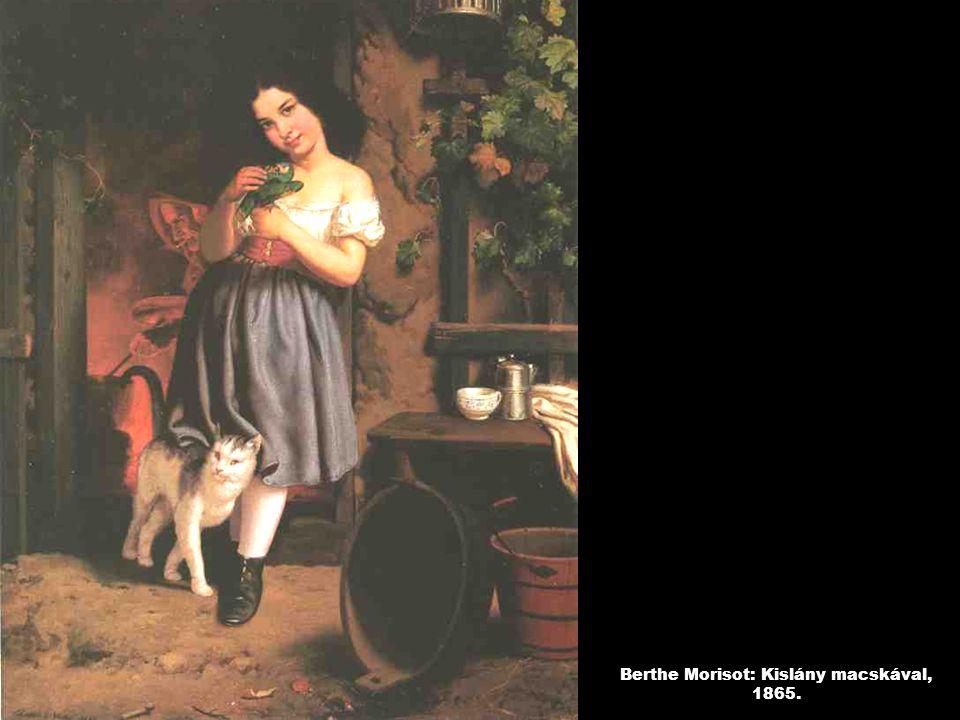Berthe Morisot: Kislány macskával, 1865.