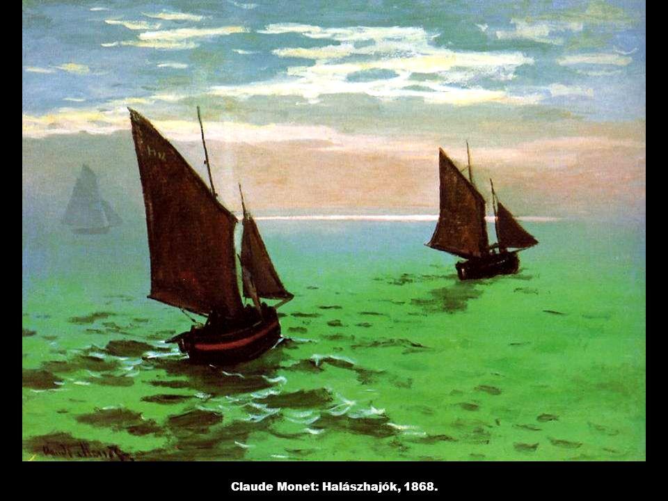Claude Monet: Halászhajók, 1868.