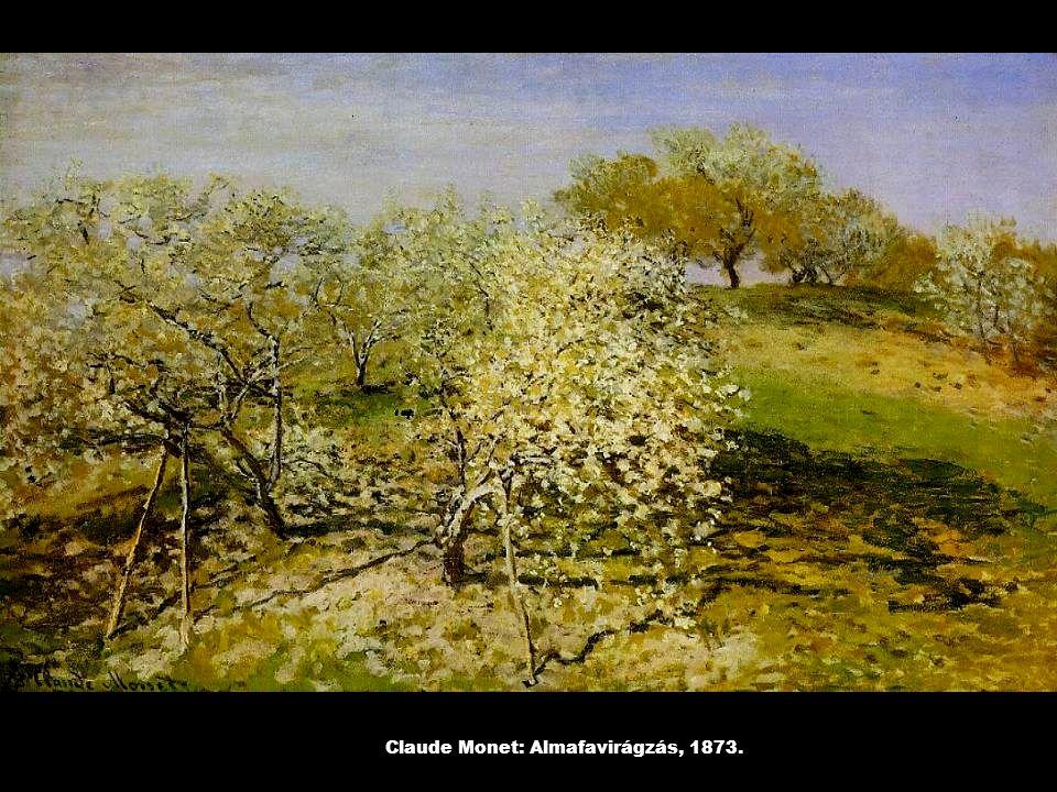 Claude Monet: Almafavirágzás, 1873.