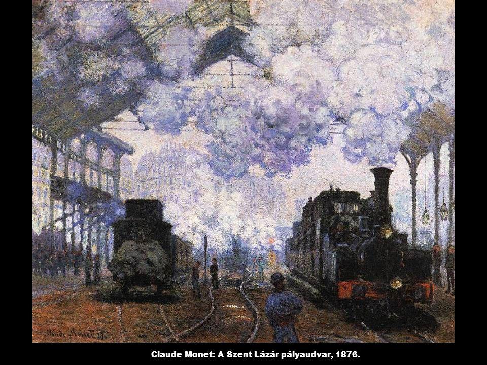 Claude Monet: A Szent Lázár pályaudvar, 1876.