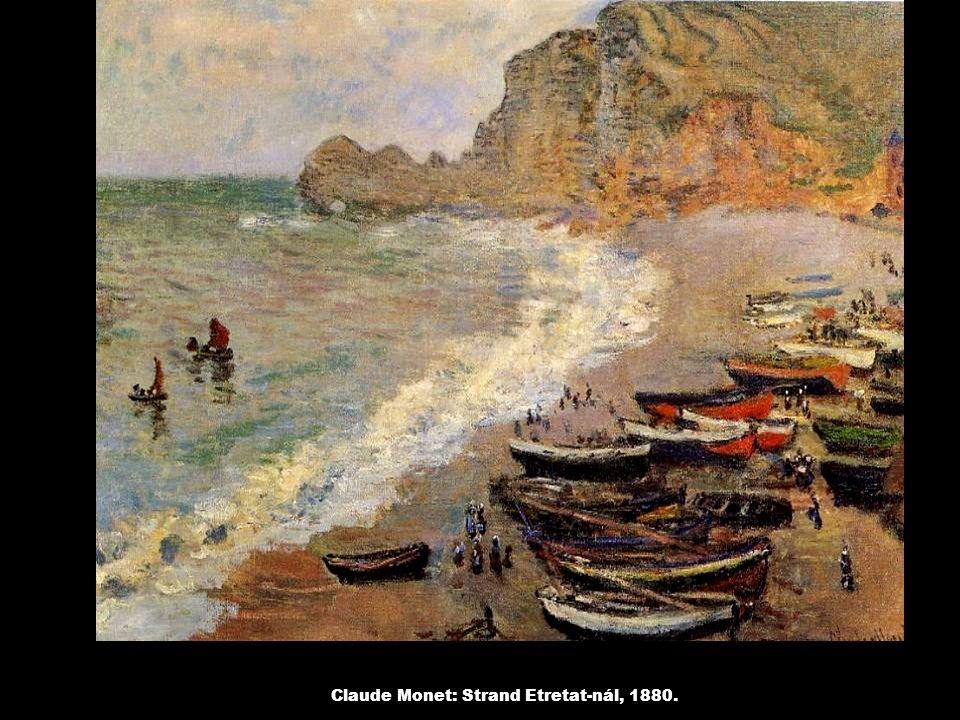 Claude Monet: Strand Etretat-nál, 1880.