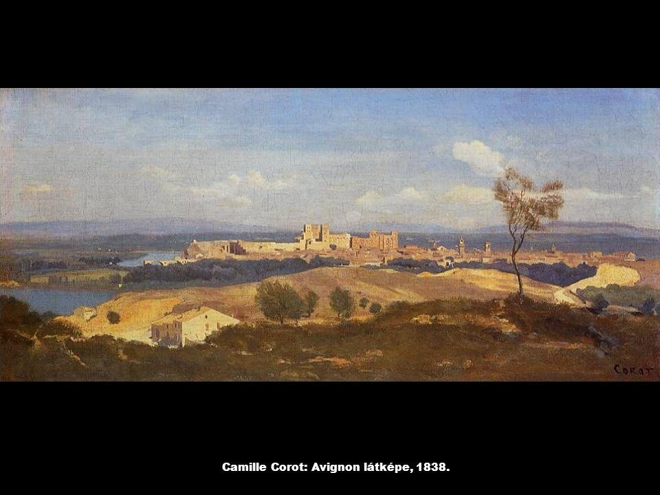 Camille Corot: Avignon látképe, 1838.