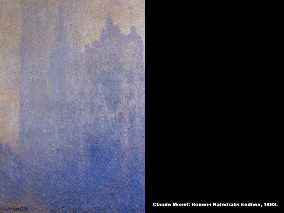 Claude Monet: Rouen-i Katedrális ködben, 1893.