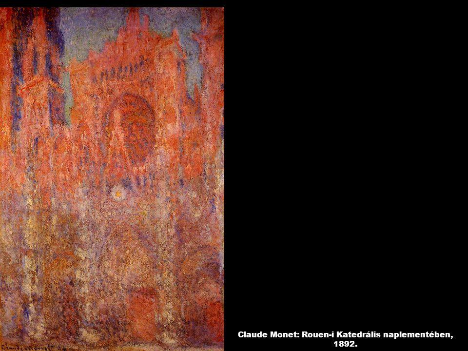 Claude Monet: Rouen-i Katedrális naplementében, 1892.