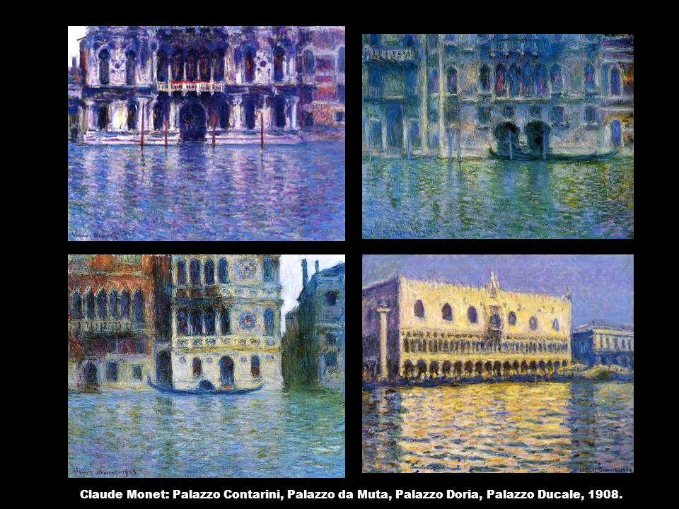 Claude Monet: Palazzo Contarini, Palazzo da Muta, Palazzo Doria, Palazzo Ducale, 1908.