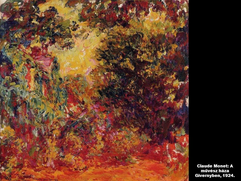 Claude Monet: A művész háza Givernyben, 1924.