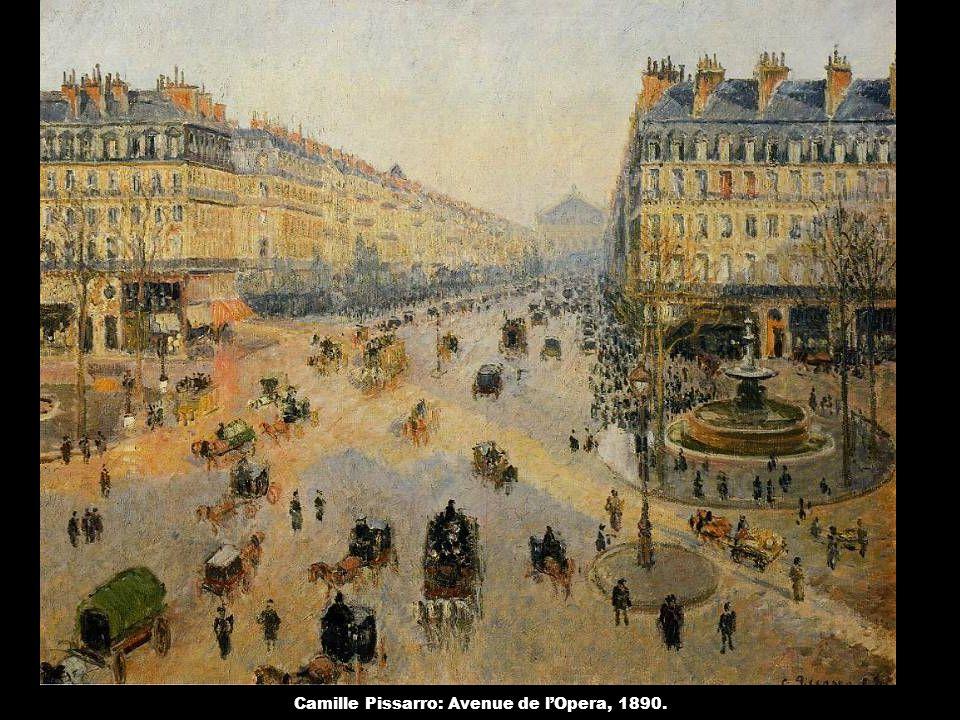 Camille Pissarro: Avenue de l'Opera, 1890.