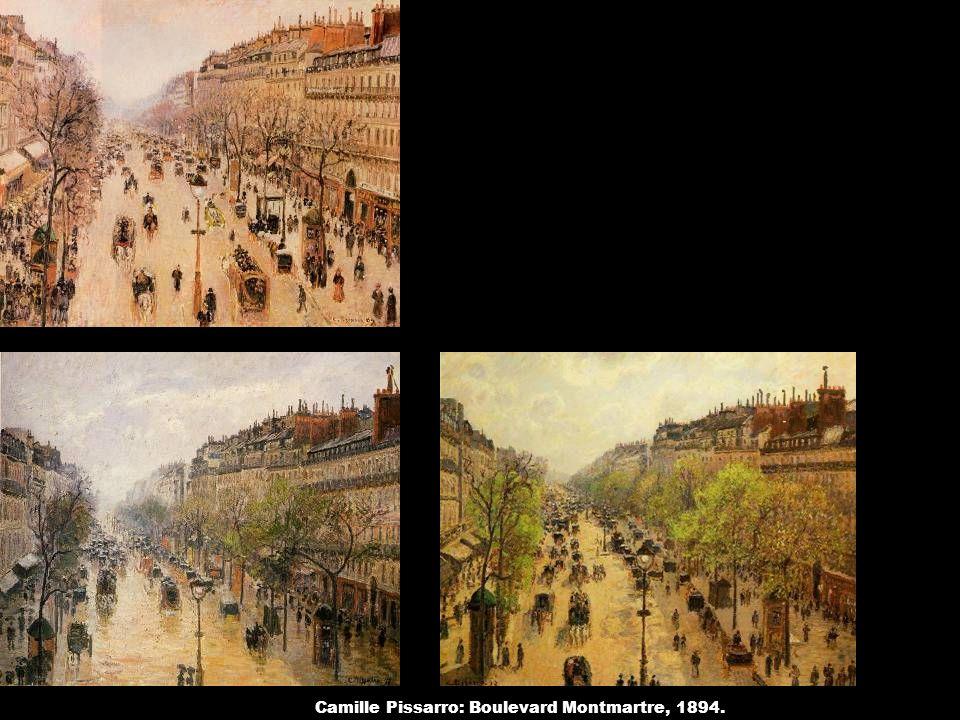 Camille Pissarro: Boulevard Montmartre, 1894.