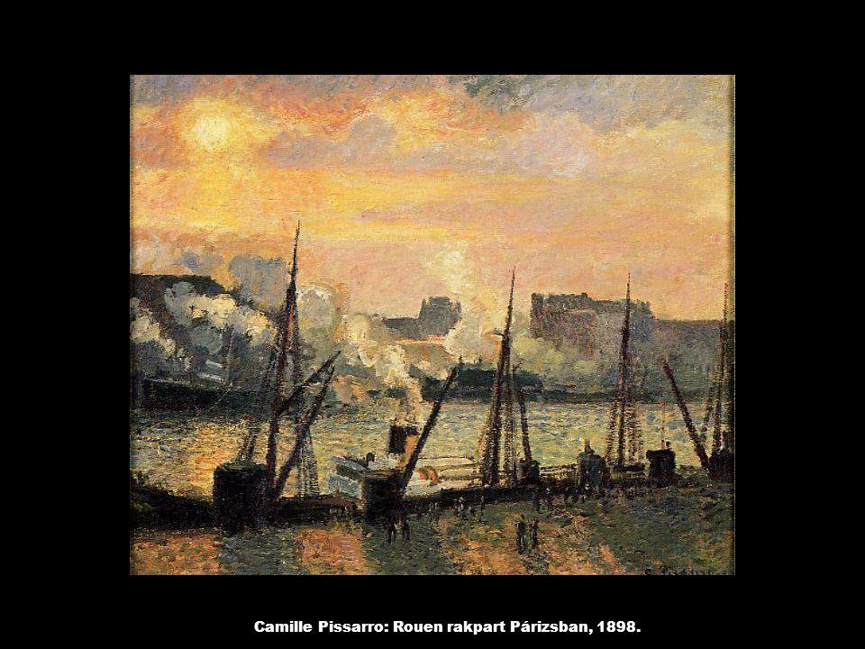 Camille Pissarro: Rouen rakpart Párizsban, 1898.