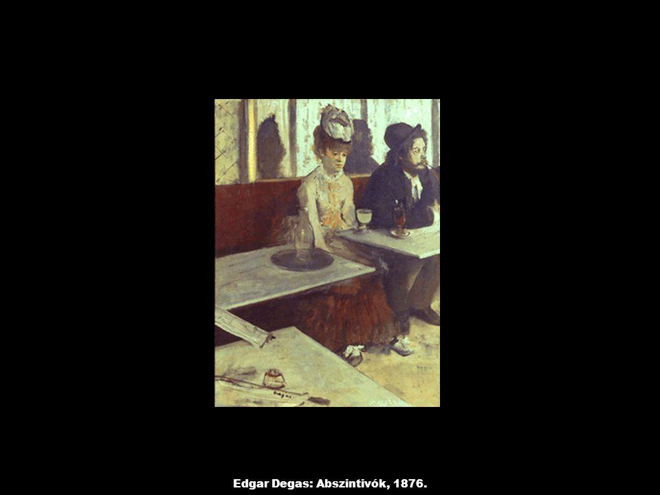 Edgar Degas: Abszintivók, 1876.