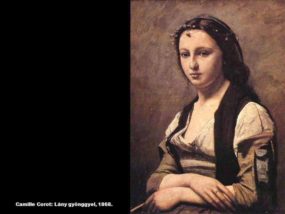 Camille Corot: Lány gyönggyel, 1868.