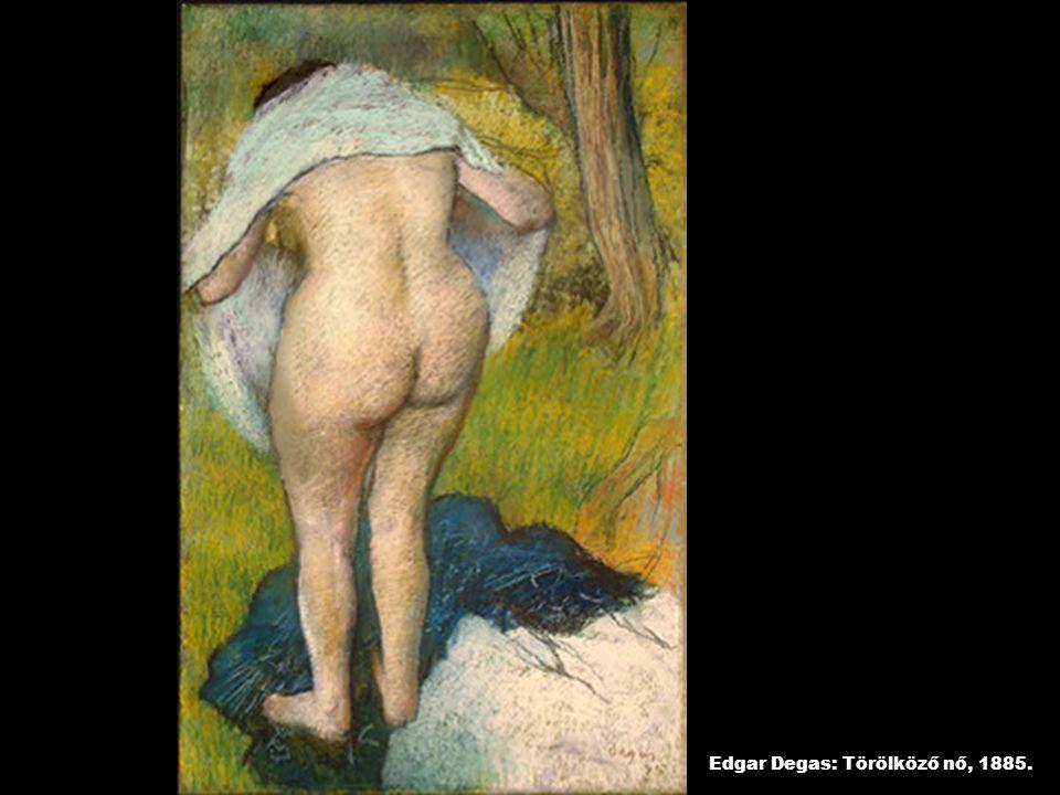 Edgar Degas: Törölköző nő, 1885.