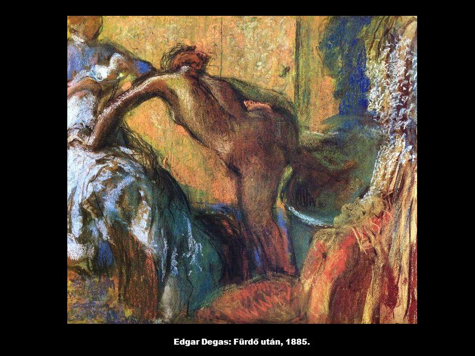 Edgar Degas: Fürdő után, 1885.